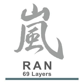 Yaxell RAN 69 Lagen Micartagriff Logo