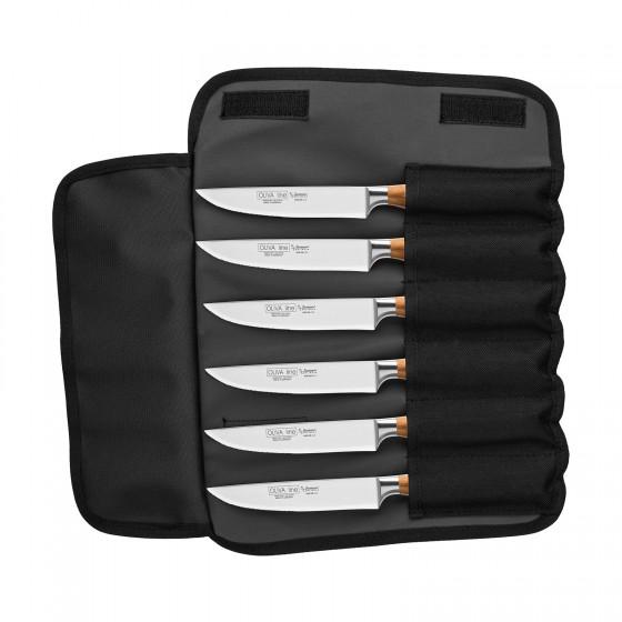 "Burgvogel Steakmesserset 6-teilig + Tasche ""Oliva Line"" 9600.926.00.3"