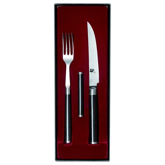 KAI Shun Besteck Gabel u. Steakmesser Set DM-0907