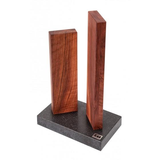 KAI Magnet-Messerblock Stonehenge Granit/Walnuss STH-4.3
