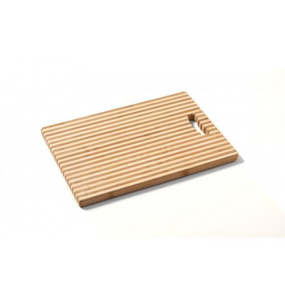 "TB005 Macani Schneidbrett Stripes M ""Tropicboards"" Bambusholz"