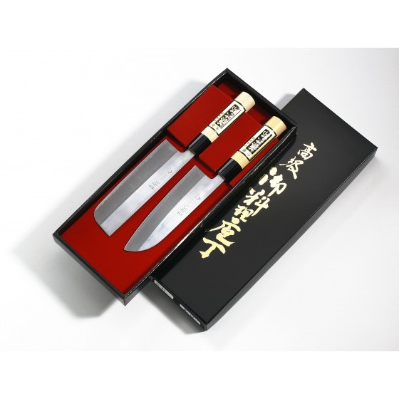 Tojiro Yasuki Shirogami Messerset poliert 2-teilig FG-7700