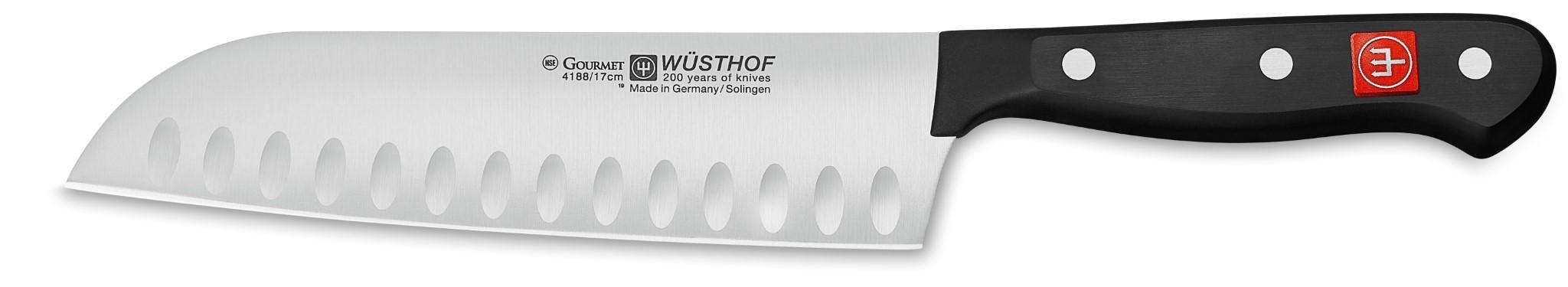 Wüsthof Santoku-Messer 17 cm Kullenschliff Gourmet 4188//17