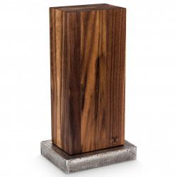 Blockwerk Messerblock 6er Nussbaum  / Stahlsockel für 6 Messer