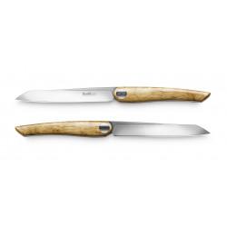 Nesmuk Steakmesser-Set Soul Olive 11,5 cm