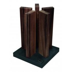 KAI Magnet-Messerblock Stonehenge Granit / Walnuss STH-4 (ohne Messer)