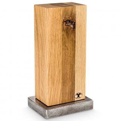 Blockwerk Messerblock 6er Wildeiche / Stahlsockel für 6 Messer