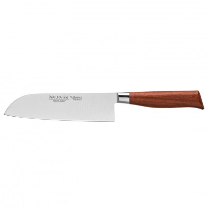 "Burgvogel Santoku Messer 18 cm Rotholz ""Nature Line"" 6100.906.18.0"