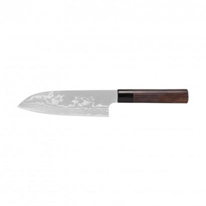 Sirou Kamo Damast Santoku Messer 18 cm G3
