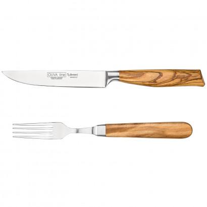 """Burgvogel Steakmesser Set """"Oliva Line"""""""