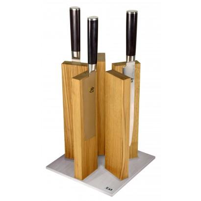 KAI Magnet-Messerblock Stonehenge Eiche/Edelstahl STH-3 (ohne Messer)