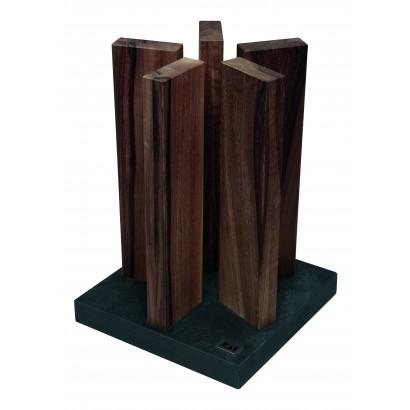 KAI Magnet-Messerblock Stonehenge Schiefer/Walnuss STH-4