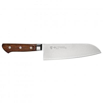 Tamahagane Damast Santoku Messer 17,5 cm KP1114 Rückläufer