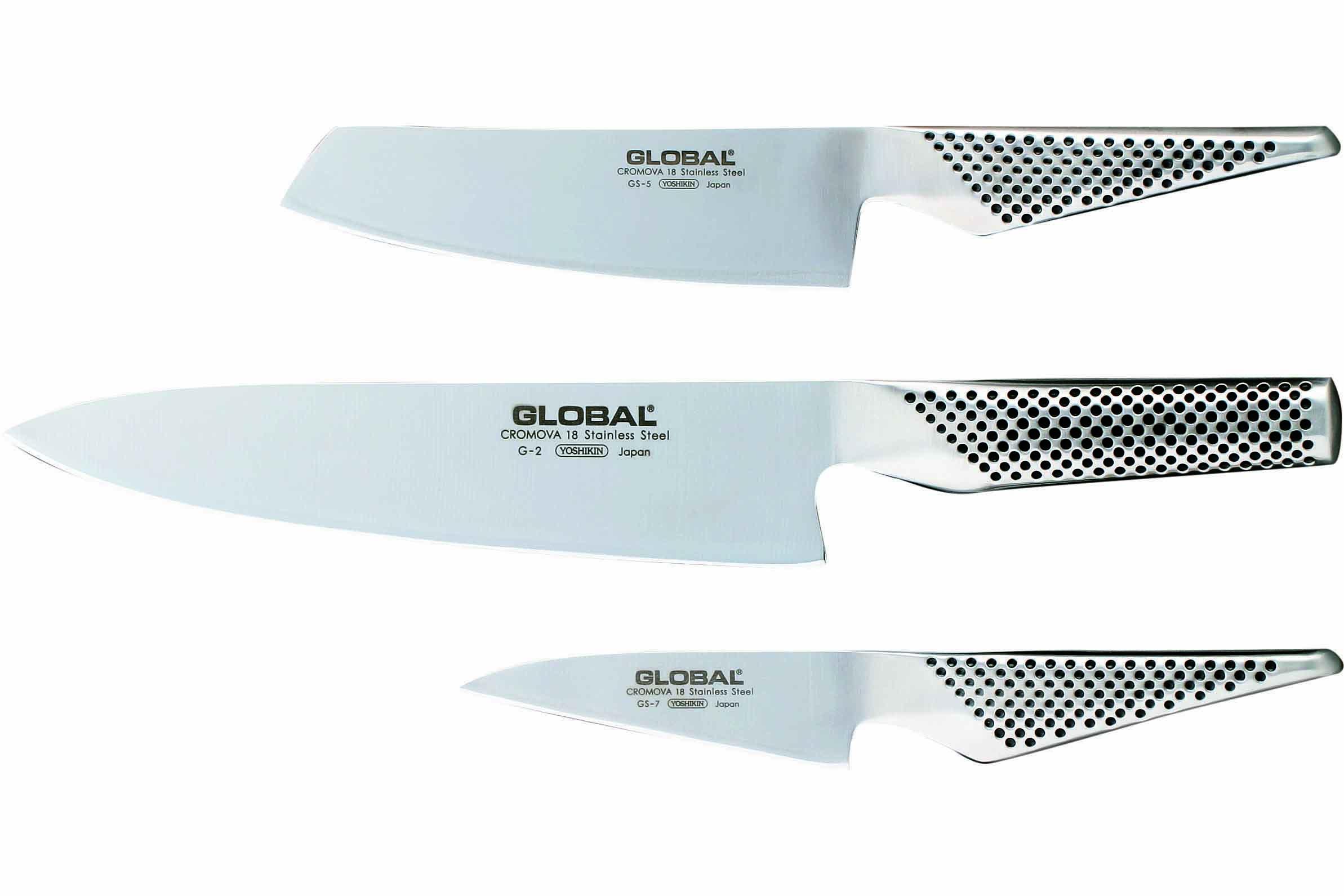 Global G-257 Messerset 3-teilig G-2, GS-3 und GS-7