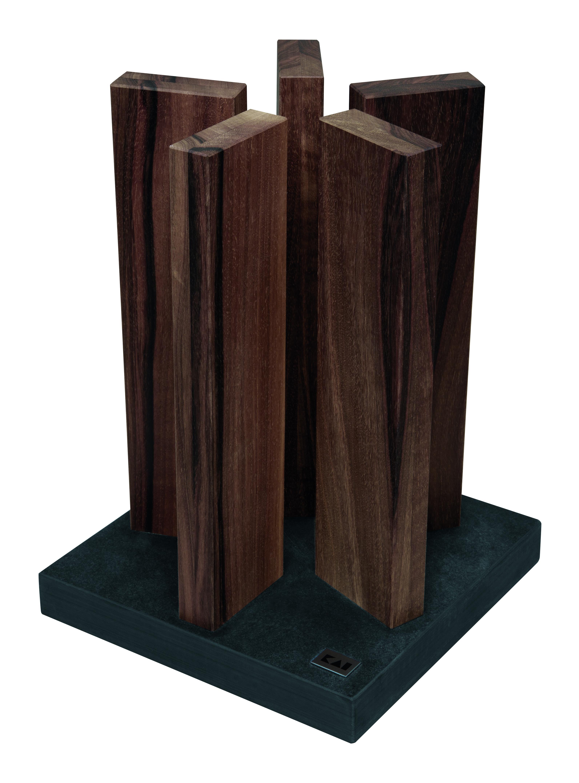 kai magnet messerblock stonehenge granit walnuss sth 4 ohne messer ebay. Black Bedroom Furniture Sets. Home Design Ideas
