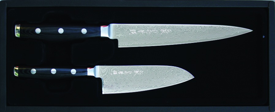 yaxell gou 101 messerset tranchiermesser kleines santoku 7063 ebay. Black Bedroom Furniture Sets. Home Design Ideas