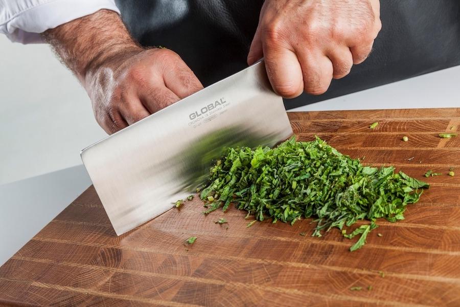 Messer von Global mit Lasergravur