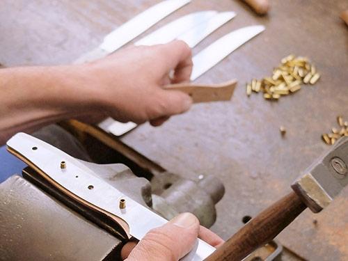 Windmühlenmesser Holzgriffe