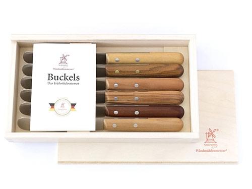 Windmühlen Buckelsmesser Messer-Set 6-teilig